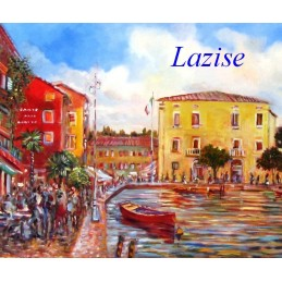 """Small port in Lazise on Lake Garda"""