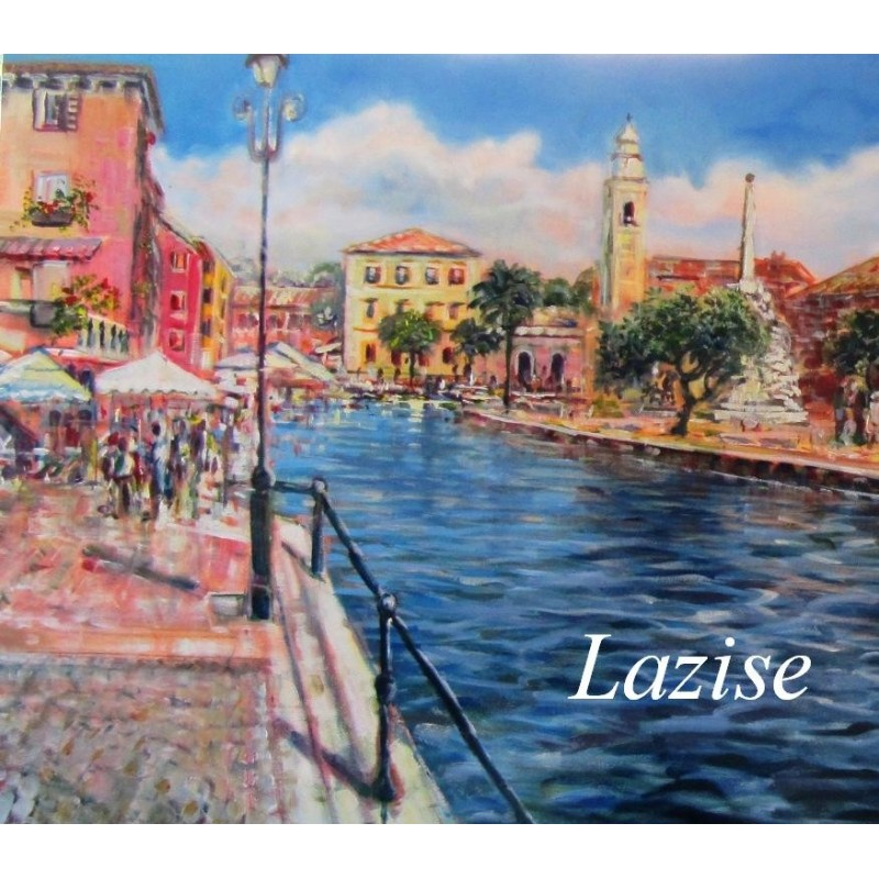 """""""Wiew of the small port of Lazise on Lake Garda"""""""