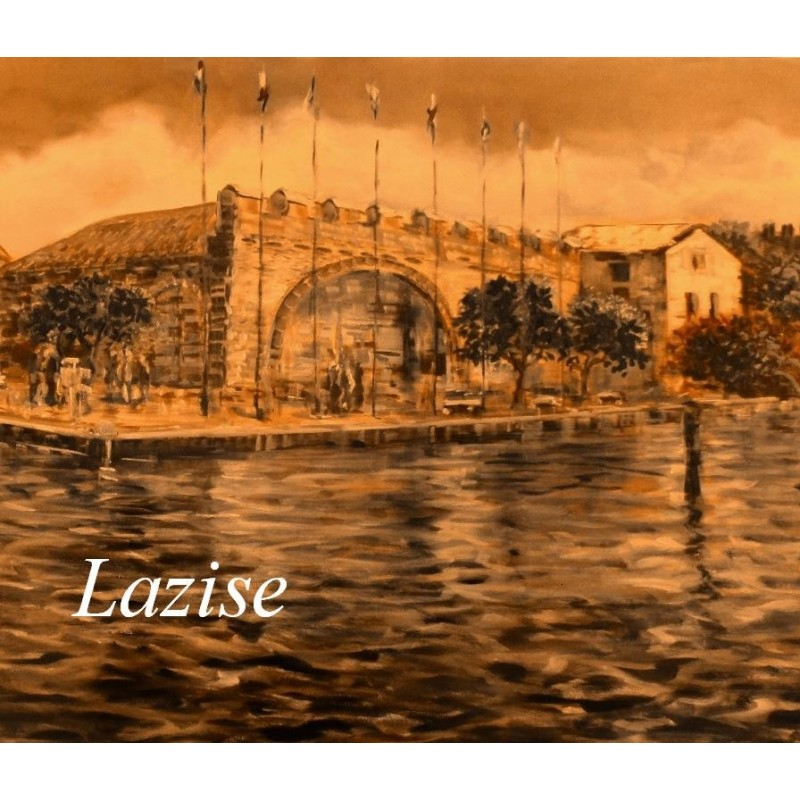 """""""Wiew of the  Old Customs House in Lazise on Lake Garda"""""""