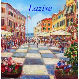 """The square of lazise on Lake Garda"""