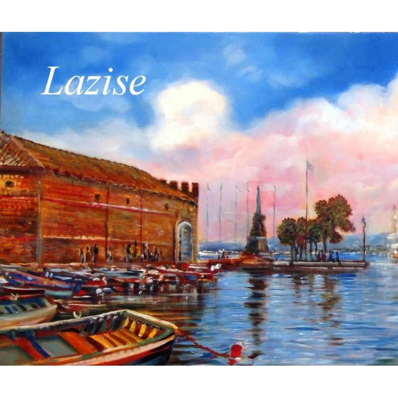 """""""Detail of the Old Custims House of Lazise on Lake Garda"""""""