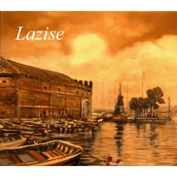 """Detail of the Old Custims House of Lazise on Lake Garda"""
