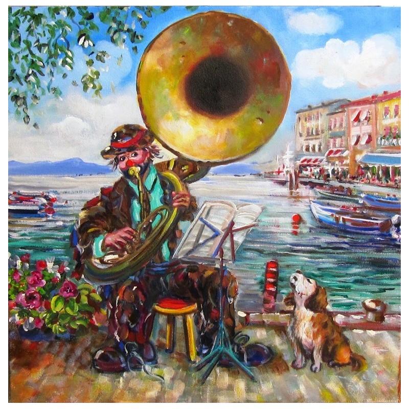 """Concert on the lakefront of Lazise on Lake Garda"""