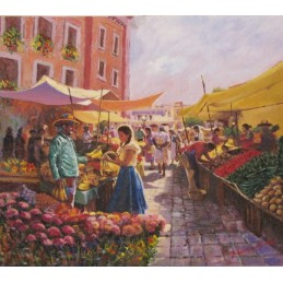 """Beniamino at the market"""