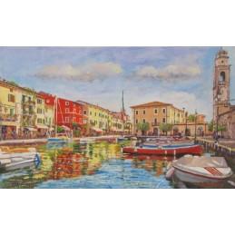 Small port in Lazise sul Garda