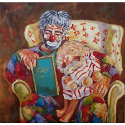 "Oil painting on canvas ""The fairy tales of the grandfather"""