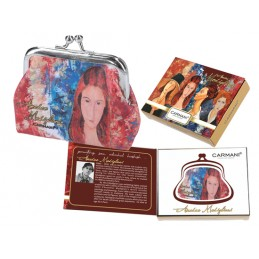 "Small wallet in oeography on eco leather by Amedeo Modigliani ""Portrait of Jeanne Hébuterne"""