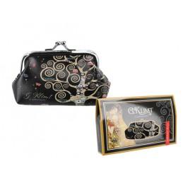 """Portamonete grande in oleografia su eco pelle di Gustav Klimt """"L'albero della vita"""""""