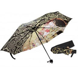 "Folding umbrella by Gustav Klimt  ""The Kiss + The Tree of Life"""