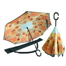 """Umbrella with reverse opening by Vincent Van Gogh """"Sunflowers"""""""