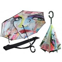 """Ombrello con apertura inversa di Loui Jover """"Sensualità"""""""