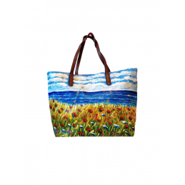 "Woman's bag hand painted by Annalisa Girlanda ""Summer"""