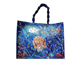 "Woman's bag in yuta painted by Annalisa Girlanda ""between the abyss"""