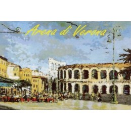 "Magnet in oleography by Riccardo Bellotto ""Verona - The Arena"""