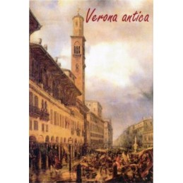 "Magnet in oleography by Riccardo Bellotto ""Verona - Lamberti Tower in Piazza delle Erbe"""