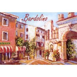 """Magnete in oleografia di Riccardo Bellotto """"Bardolino sul Lago di Garda"""""""