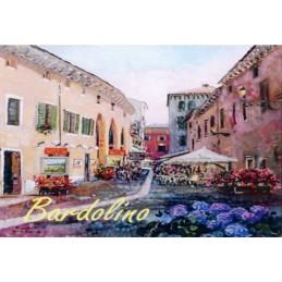 """Magnete in oleografia di Riccardo Bellotto """"Bardolino - Via San Martino"""""""