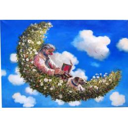 """Magnete in oleografia di Beniamino Ajroldi """"Noi due...ad un passo dal cielo"""""""