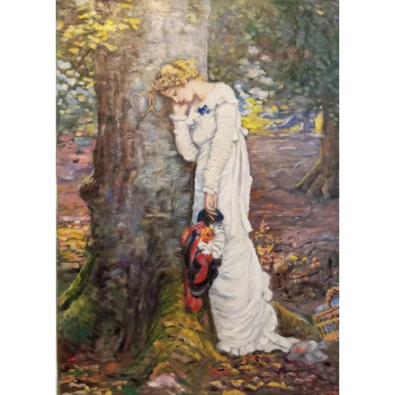 "Oil painting on canvas by Giandomenico Ferri ""Romance"""