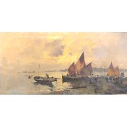 "Dipinto ad olio su tela di Tita Belisario  ""Laguna Veneziana"""