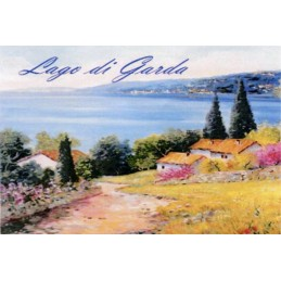 "Magnet in oleography by Beniamino Ajroldi ""Path towards Lake Garda"""