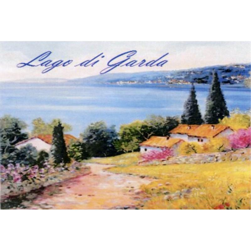 "Magnet in oleography by Beniamino Ajroldi ""Path towards Lake Garda"""