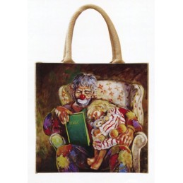 "Jute bag in oleography by Beniamino Ajroldi ""Grandfather's fairy tales"""