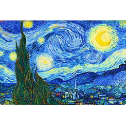 "Magnet in oleography by Vincent Van Gogh ""Starry Night"""