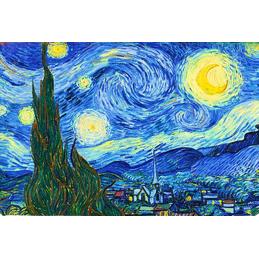 """Magnete in oleografia di Vincent Van Gogh """"Notte stellata"""""""