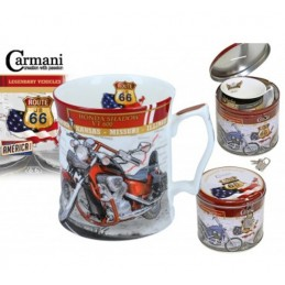 "Porcelain Cup Legendary Vehicles Collection  ""HONDA SHADOW VT 600"""