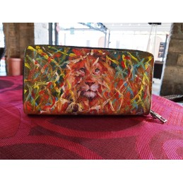 "Annalisa Girlanda women's wallet ""Green eyes in the Savannah"""