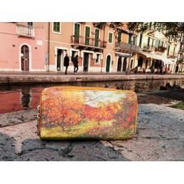 """Portafoglio da donna di Anna Barbuggiani """"Magico autunno"""""""