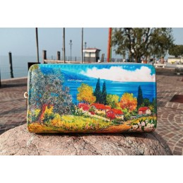 "Beniamino Ajroldi women's wallet ""Hills on Lake Garda"""
