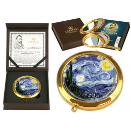 """Specchietto da borsetta di Vincent Van Gogh """"Starry night"""""""