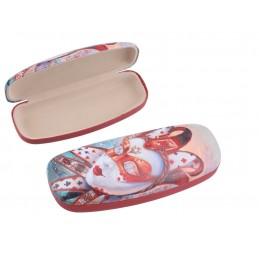 "Small women's glasses case by Alex Levin ""Venetian masks"""