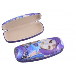 "Small women's glasses case by Alex Levin ""Venetian masks"""