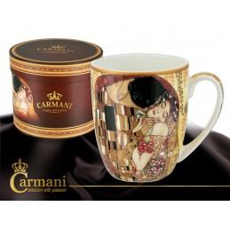 """Mug (coppa camio) in porcellana di Gustav Klimt """"Il Bacio"""""""
