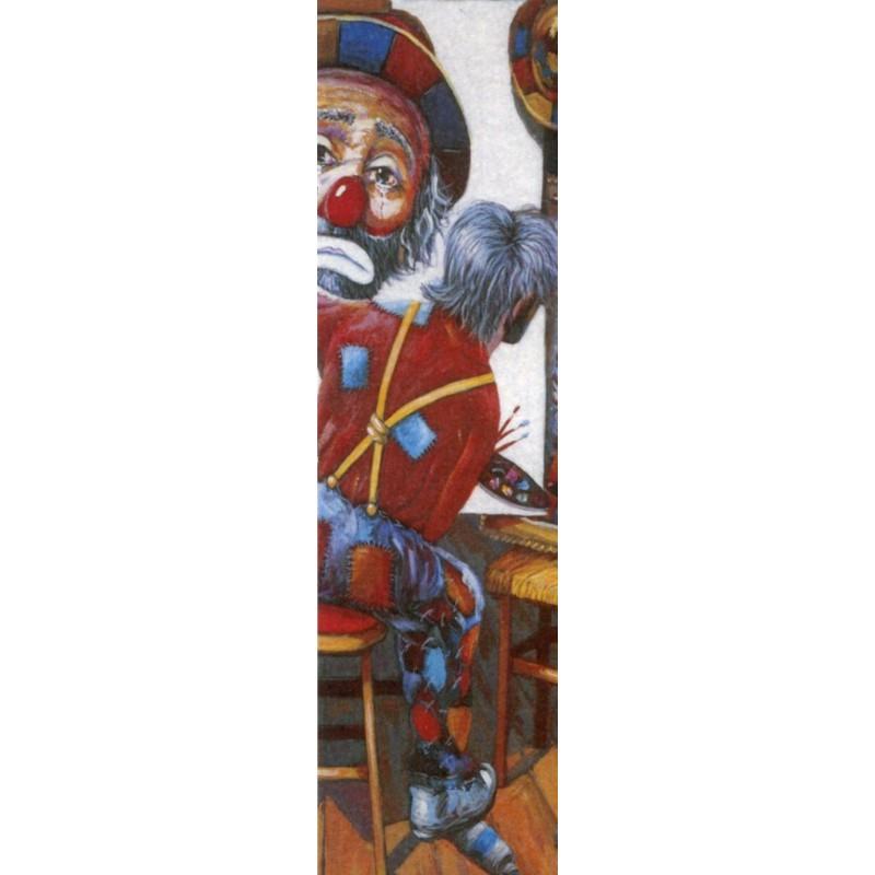 "Rectangular bookmark by Beniamino Ajroldi ""In search of myself"""
