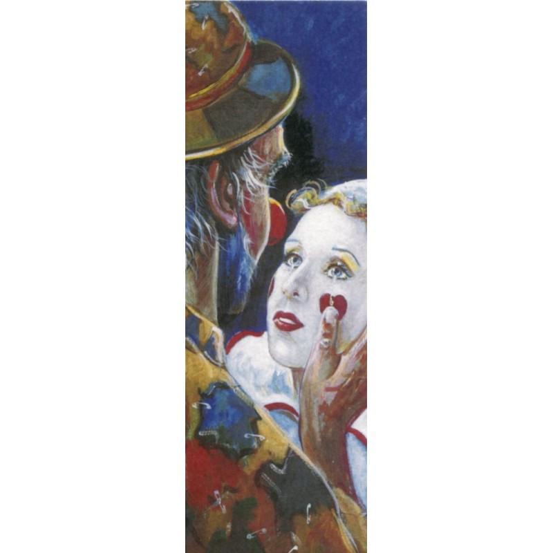 "Rectangular bookmark by Beniamino Ajroldi ""Fall in love again"""