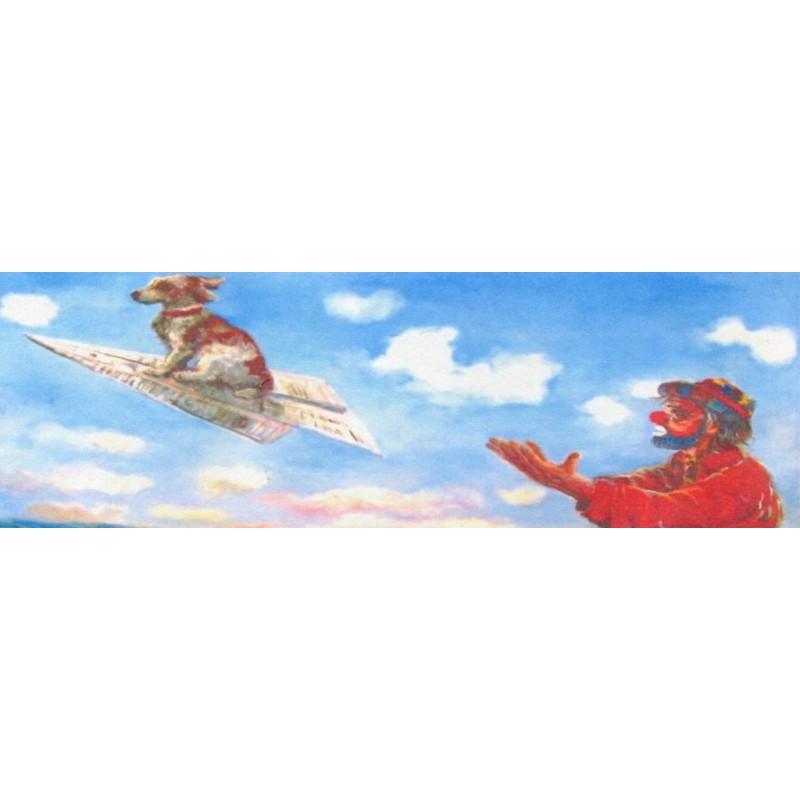 "Rectangular bookmark by Beniamino Ajroldi ""Low cost flight"""