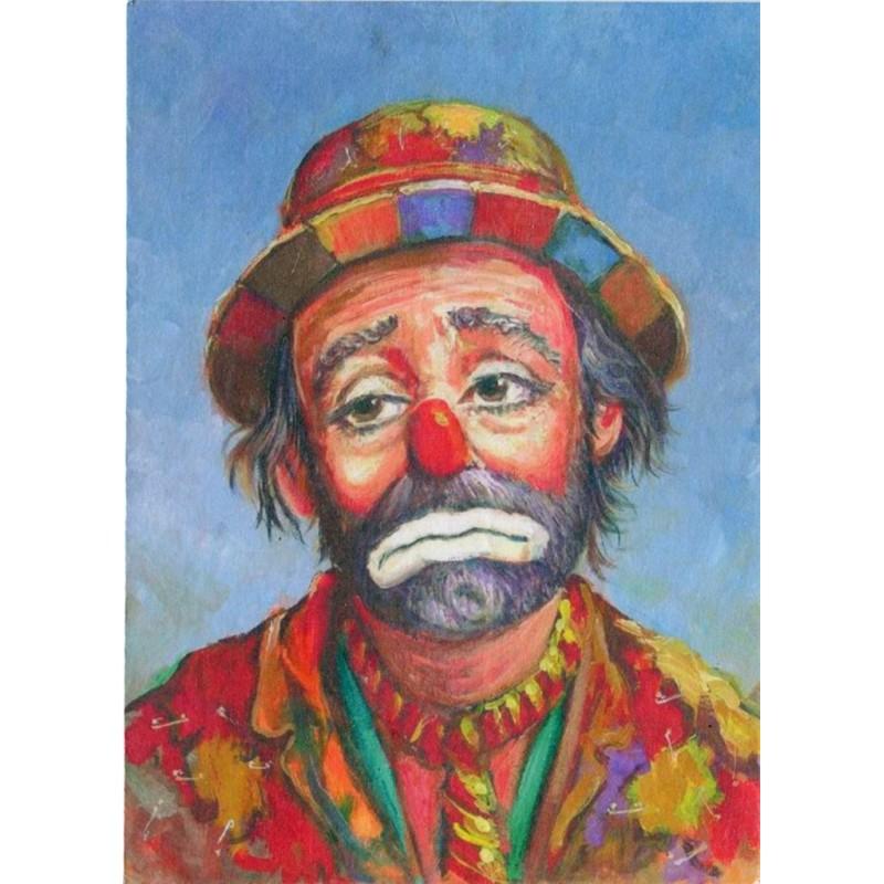 "Art postcard of Beniamino Ajroldi in oleography on cardboard ""Sadness"""