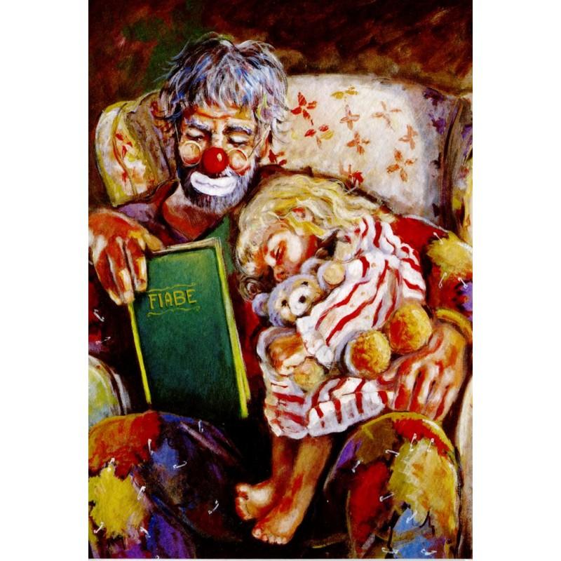 "Art postcard of Beniamino Ajroldi in oleography on cardboard ""Grandpa's fairy tales"""
