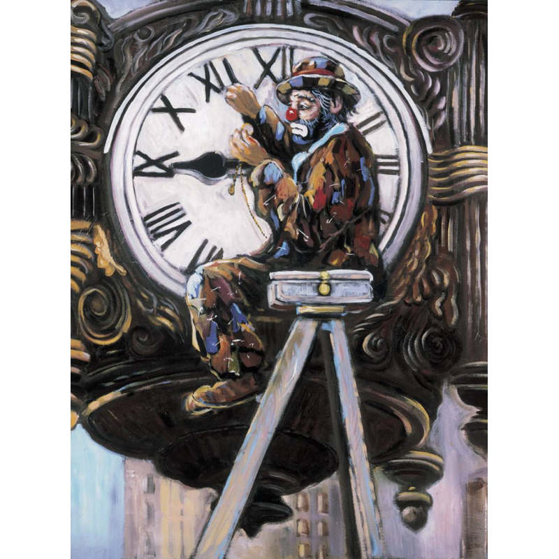 "Art postcard of Beniamino Ajroldi in oleography on cardboard ""The weather"""