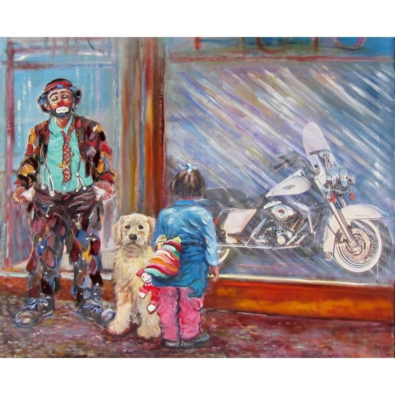 """Dipinto olio su tela di Beniamino Ajroldi """"Il sogno proibito"""""""