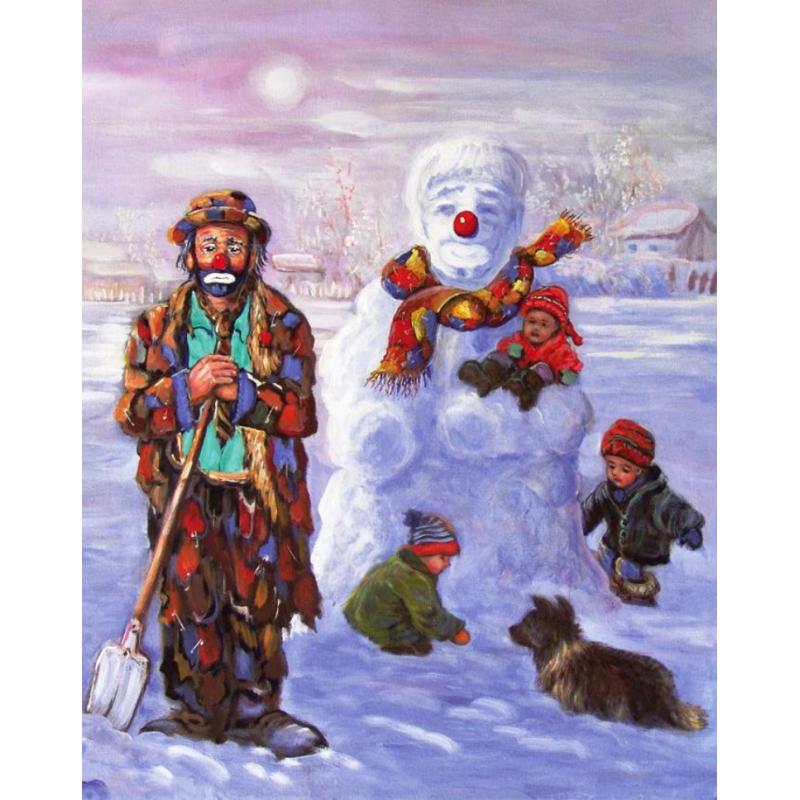 "Art postcard of Beniamino Ajroldi in oleography on cardboard ""For the joy of the children"""