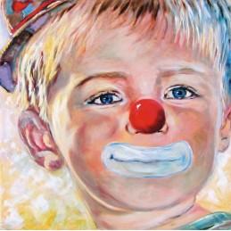 """Dipinto olio su tela di Beniamino Ajroldi """"Il cielo negli occhi"""""""