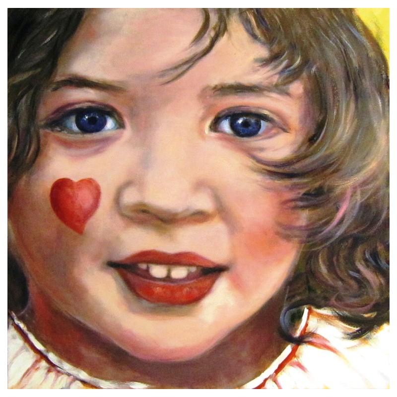 """Dipinto olio su tela di Beniamino Ajroldi """"Il sorriso dell'età"""""""
