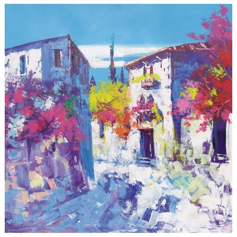 "Dipinto olio su tela di Beniamino Ajroldi ""Angolo di Avesa (Verona)"""