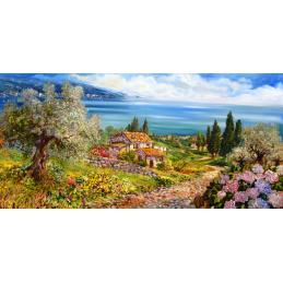 """Segnalibro rettangolare di Beniamino Ajroldi """"Sentiero verso il Lago di Garda"""""""