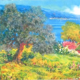"""Pocket bookmark by Beniamino Ajroldi """"Lake Garda panorama"""""""
